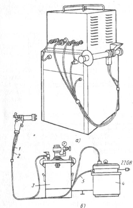 Рис. 7. Установка для ручного электроокрашивания: