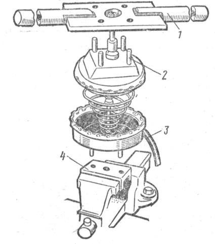 Схема разборки вакуумного