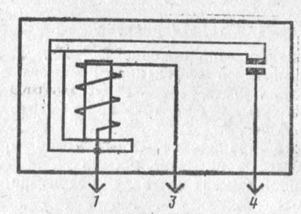 Электрическая схема реле РС528