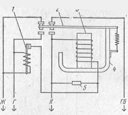 Электрическая схема реле РС514