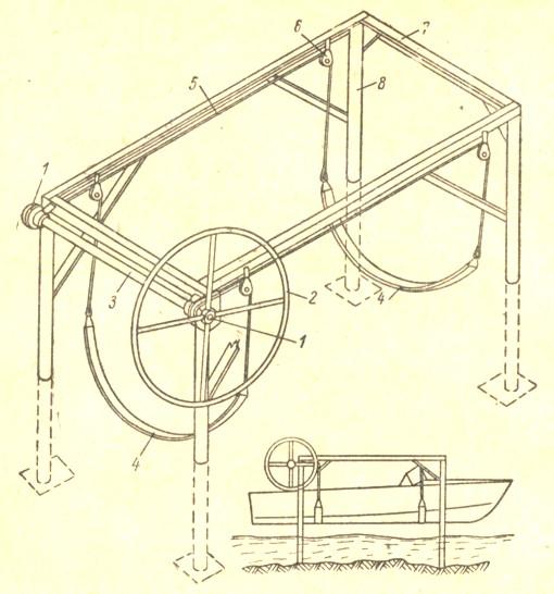 Подъемник для гидроцикла своими руками 28
