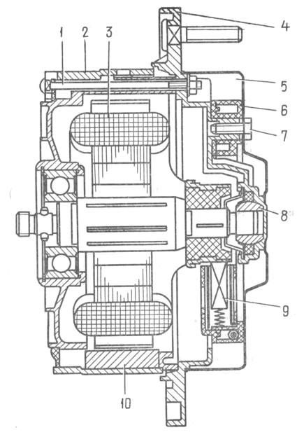 двигателя: 1-стяжной болт