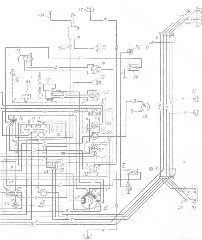 412 электрическая москвич схема автомобиля