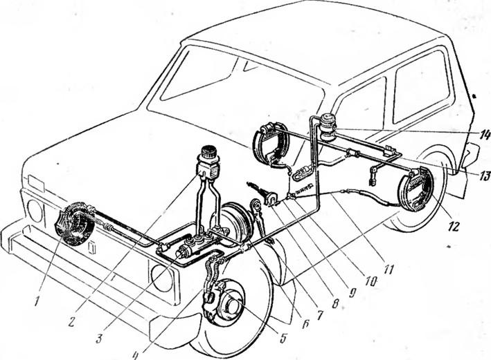 Схема тормозной системы нива 2121 фото 501
