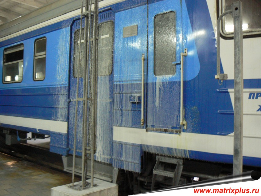 Купить химию для клинига, кислотная химия для наружной мойки ЛКП пассажирских вагонов в Москве, химия для мойки катеров и яхт